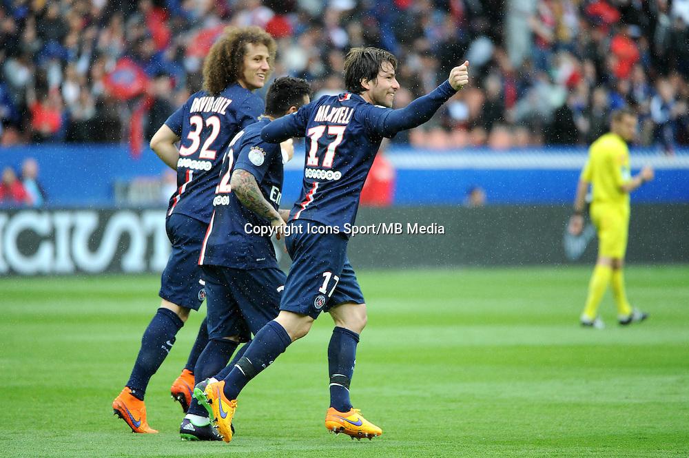 Joie Scherrer MAXWELL - 25.04.2015 - Paris Saint Germain / Lille - 34eme journee de Ligue 1<br />Photo : Nolwenn Le Gouic / Icon Sport