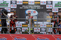 #2 Glenn Irwin Carrickfergus Be Wiser Ducati Racing Team MCE British Superbikes #67 Shane Shakey Byrne Sittingbourne Be Wiser Ducati Racing Team MCE British Superbikes #22 Jason O?Halloran Australia Honda Racing MCE British Superbikes Podium