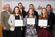 Marvin Klemme Agriculture Endowed Memorial Scholarship recipients, Grant Wilber, Luke Werth, Brittany Krehbiel, Hannah Darr, Madeline Atha