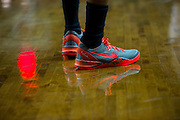 WACO, TX - JANUARY 3: Nike shoes worn by the Savannah State Tigers against the Baylor Bears on January 3, 2014 at the Ferrell Center in Waco, Texas.  (Photo by Cooper Neill/Getty Images) *** Local Caption ***