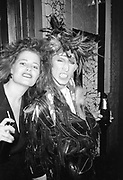 Martin Degville and friend, clubbing, UK, 1980s.
