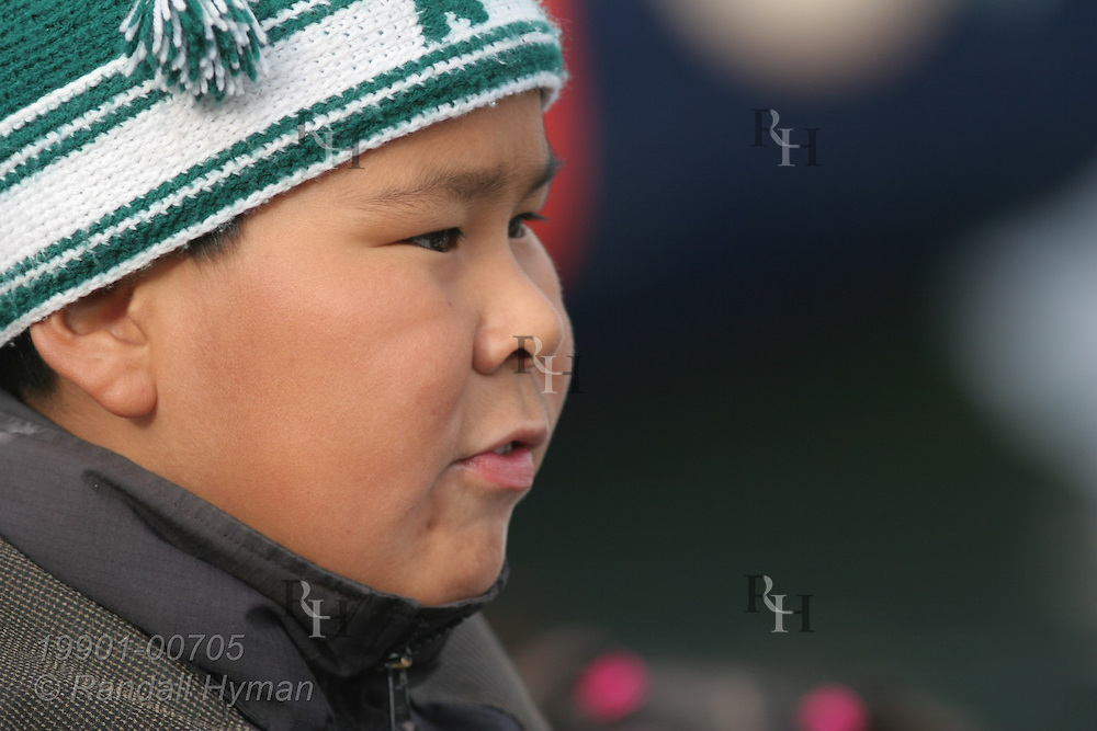 Portrait of local boy in Ilulissat, third largest town in Greenland.