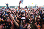 Crowd shots taken during Kendrick Lamar's set during day 2 of Lollapalooza 2013 on August 3rd, 2013.