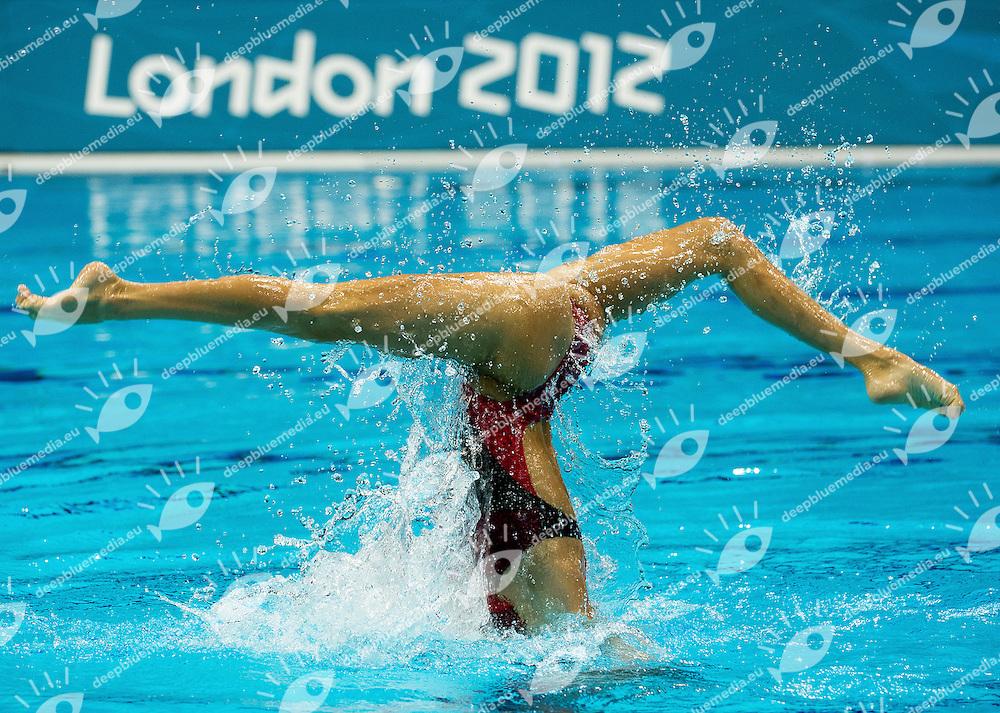 Ona Carbonell - Andrea Fuentes Spain ESP.Synchronized Swimming duet Final.London 2012 Olympics - Olimpiadi Londra 2012.day 12 Aug.7.Photo G.Scala/Deepbluemedia.eu/Insidefoto