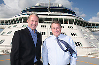 Celebrity Equinox portraits..Dan Hanrahan,President and CEO, Celebrity Cruises. (left)  and Robin Shaw, VP and Managing Director UK and Ireland, Celebrity Cruises