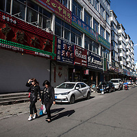 HUNCHUN, 09/12/2017:<br />  most shops in one of the streets for seafood wholesales are closed.