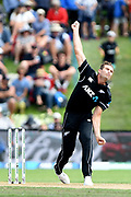 Tim Southee of the Black Caps during the ANZ One Day International match between the Black Caps and Bangladesh, played at the University Oval, Dunedin, New Zealand, on February 20, 2019. Copyright Image: Joe Allison / www.Photosport.nz