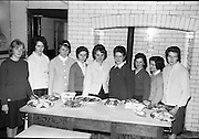 Bord Iascaigh Mhara Fish cookery competition, Enniscorthy Vocational School, Co. Wexford.  Ten girls, all first prize school winners from secondary and vocational schools throughout the county, competed for the Wexford County Finalist of the National Cookery Competition..30.01.1964