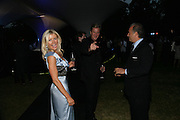DR. KATIE JONES, ROB HERSOV AND CHARLES FINCH, The Summer Party in association with Swarovski. Co-Chairs: Zaha Hadid and Dennis Hopper, Serpentine Gallery. London. 11 July 2007. <br />