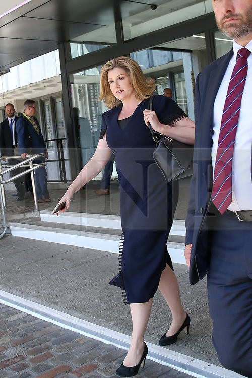 © Licensed to London News Pictures. 23/07/2019. London, UK. Secretary of State for Defence and Minister for Women and Equalities Penny Mordaunt leaves QEII Centre after Boris Johnson elected as leader of the  Conservative Party and the new British Prime Minister. Dinendra Haria/LNP