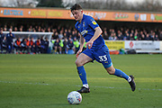 AFC Wimbledon midfielder Callum Reilly (33) chasing ball and dribblinginto the box during the EFL Sky Bet League 1 match between AFC Wimbledon and Fleetwood Town at the Cherry Red Records Stadium, Kingston, England on 8 February 2020.