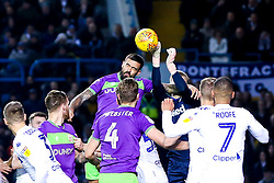 Marlon Pack of Bristol City challenges Will Huffer of Leeds United - Mandatory by-line: Robbie Stephenson/JMP - 24/11/2018 - FOOTBALL - Elland Road - Leeds, England - Leeds United v Bristol City - Sky Bet Championship
