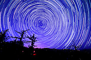 Star trails above the Angeles National Forest