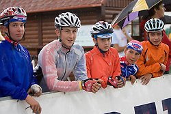 Spectators at Slovenian National Championships in Road cycling, 178 km, on June 28 2009, in Mirna Pec, Slovenia. (Photo by Vid Ponikvar / Sportida)