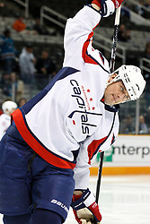 February 17, 2011; San Jose, CA, USA;  Washington Capitals center Matt Hendricks (26) warms up before the game against the San Jose Sharks at HP Pavilion.  San Jose defeated Washington 3-2. Mandatory Credit: Jason O. Watson / US PRESSWIRE