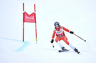 """Schladming, Austria - 2017 March 19: Caroline Dresling from Denmark (124) competes in Alpine Skiing Competition while Special Olympics World Winter Games Austria 2017 on the """"Sepp-Walcher-Downhill""""<br /> (Slope 32) near the """"Tauernalm"""" in Rohrmoos on March 19, 2017 in Schladming, Austria.<br /> <br /> Mandatory credit:<br /> Photo by © Adam Nurkiewicz / Mediasport<br /> <br /> Adam Nurkiewicz declares that he has no rights to the image of people at the photographs of his authorship.<br /> <br /> Picture also available in RAW (NEF) or TIFF format on special request.<br /> <br /> Any editorial, commercial or promotional use requires written permission from the author of image.<br /> <br /> Image can be used in the press when the method of use and the signature does not hurt people on the picture."""