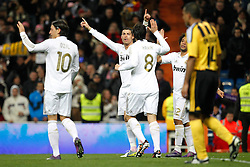 28.01.2012, Santiago Bernabeu Stadion, Madrid, ESP, Primera Division, Real Madrid vs Real Saragossa, 21. Spieltag, im Bild Real Madrid's Cristiano Ronaldo goal // during the football match of spanish 'primera divison' league, 21th round, between Real Madrid and Real Saragossa at Santiago Bernabeu stadium, Madrid, Spain on 2012/01/28. EXPA Pictures © 2012, PhotoCredit: EXPA/ Alterphotos/ Cesar Cebolla..***** ATTENTION - OUT OF ESP and SUI *****
