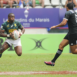 Siviwe Soyizwapi of South Africa during the Semi Final match between New Zealand and South Africa at the HSBC Paris Sevens, stage of the Rugby Sevens World Series at Stade Jean Bouin on June 10, 2018 in Paris, France. (Photo by Sandra Ruhaut/Icon Sport)