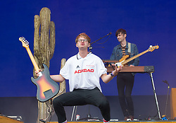 Glass Animals perform on stage on day 1 of All Points East festival in Victoria Park in London, UK. Picture date: Friday 25 May 2018. Photo credit: Katja Ogrin/ EMPICS Entertainment.