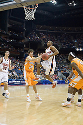 Virginia Cavaliers guard J.R. Reynolds (2) goes up for a shot in the first half against Tennessee.  The #4 seed Virginia Cavaliers were defeated by the #5 seed Tennessee Volunteers 77-74 in the second round of the Men's NCAA Tournament in Columbus, OH on March 18, 2007.