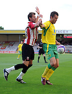 Lincoln - Wednesday, July 28th, 2010:  Norwichs's Elliot Ward pictured during the Pre Season friendly match at Sincil Bank. (Pic by Andrew Stunell/Focus Images)