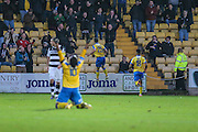 David Fitzpatrick celebrates putting Torquay 2-0 ahead during the Vanarama National League match between Torquay United and Forest Green Rovers at Plainmoor, Torquay, England on 26 December 2016. Photo by Shane Healey.