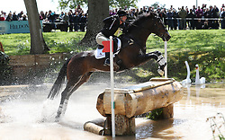 Simply Clover ridden by Hazel Towers on the Cross Country during day four of the 2019 Mitsubishi Motors Badminton Horse Trials at The Badminton Estate, Gloucestershire. PRESS ASSOCIATION Photo. Picture date: Saturday May 4, 2019. See PA story EQUESTRIAN Badminton. Photo credit should read: David Davies/PA Wire