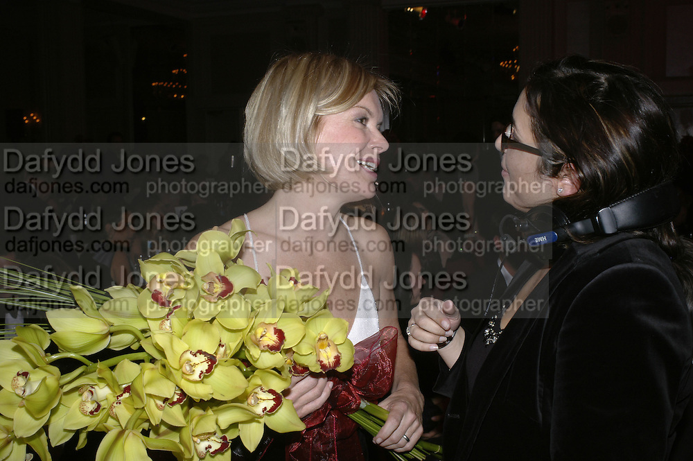 Mariella Frostrup,  Costa Book Awards 2006. Grosvenor House Ballroom. Park Lane, London. 7 February 2007. -DO NOT ARCHIVE-© Copyright Photograph by Dafydd Jones. 248 Clapham Rd. London SW9 0PZ. Tel 0207 820 0771. www.dafjones.com.
