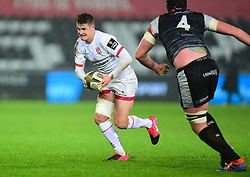Billy Burns of Ulster Rugby scores a penalty Guinness PRO14, Liberty Stadium, Swansea, UK 15/02/2020<br /> Ospreys vs Ulster Rugby<br /> <br /> Mandatory Credit ©INPHO/Alex James