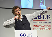 © Licensed to London News Pictures. 14/06/2013. London, UK Thomas Heatherwick  attends the G8 Innovation Conference at the Siemens Crystal Building in London today 14th June 2013. As part of UK's G8 Presidency, the G8 Innovation Conference brings together 300 leading international entrepreneurs, researchers, scientists, designers and policy makers. Photo credit : Stephen Simpson/LNP