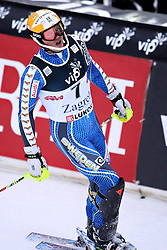06.01.2013, Crveni Spust, Zagreb, CRO, FIS Ski Alpin Weltcup, Slalom, Herren, 1. Lauf, im Bild Andre Myhrer (SWE) // Andre Myhrer of Sweden reacts // after his 1st Run of the mens Slalom of the FIS ski alpine world cup at Crveni Spust course in Zagreb, Croatia on 2013/01/06. EXPA Pictures © 2013, PhotoCredit: EXPA/ Pixsell/ Michal Glebov..***** ATTENTION - for AUT, SLO, SUI, ITA, FRA only *****