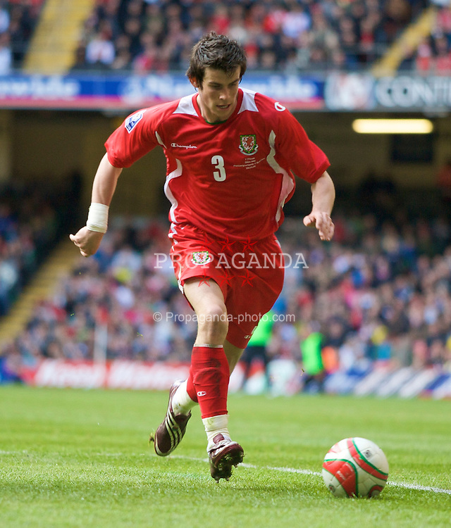 CARDIFF, WALES - Saturday, March 28, 2009: Wales' Gareth Bale in action against Finland during the 2010 FIFA World Cup Qualifying Group 4 match at the Millennium Stadium. (Pic by Dave Kendall/Propaganda)