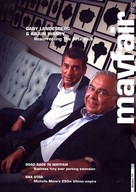 Mayfair Times, Cover, Gary Landesberg, Arjun Waney, The Arts Club, London,