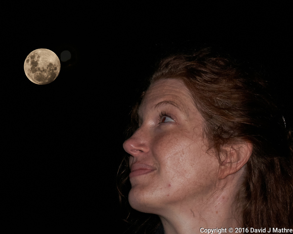 Teacher Viewing the Moon. Image taken with a Fuji X-T1 camera and 55-200 mm VR lens