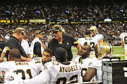 """Description/Caption:<br /> File-Greg Williams, Defensive Coordiantor for the New Orleans Saintshas been suspended indefiently from the NFL because of his """"bounty system"""" he had in place while coaching for the Saints during ht e2009,2010 & 2011 NFL seasons. Coach Sean Payton was suspended for one year and General manager Micky Lookis was suspended for 8 games for thier roles in the """"Bounty scandal"""". File Photo of Defensive coach Greg Willams letting his defensive line know what to do during the Saints pre season game against the San Diego Chargers Friday Aug 27,2010. The San Diego charges cut Drew Brees a few years ago, allowing him to be picked uop by the Saints as a free agent. The Saints won 36-21 at half time.Photo© Suzi Altman According to an NFL investigation, from 2009 to 2011 the New Orleans Saints created an unseemly bounty system that rewarded defensive players for injuring opponents. The program, administered by Saints defensive coordinator Gregg Williams, financed by Saints players and strictly forbidden by the NFL, offered $1,000 for a hit that forced a player to be carted off to the sideline and $1,500 for one that knocked a player out of the game. PICTURED: Aug 27, 2010. GREGG WILLIAMS at the The Saints vs Chargers game in New Orleans..(Credit Image: © Suzi Altman According to an NFL investigation, from 2009 to 2011 the New Orleans Saints created an unseemly bounty system that rewarded defensive players for injuring opponents. The program, administered by Saints defensive coordinator Gregg Williams, financed by Saints players and strictly forbidden by the NFL, offered $1,000 for a hit that forced a player to be carted off to the sideline and $1,500 for one that knocked a player out of the game. PICTURED: Aug 27, 2010. GREGG WILLIAMS at the The Saints vs Chargers game in New Orleans. © Suzi Altman"""