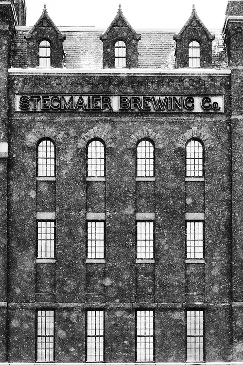 Stegmaier Brewery in a Snow Squall, by Darren Elias Photography
