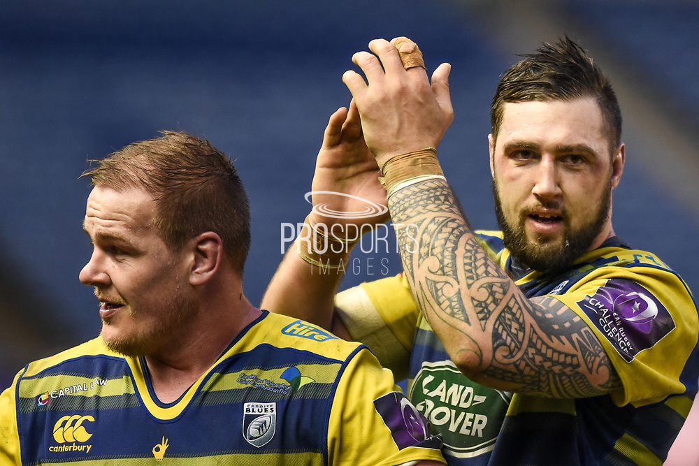 Josh Turnbull applauds visiting fans after winning the European Rugby Challenge Cup match between Edinburgh Rugby and Cardiff Blues at BT Murrayfield Stadium, Edinburgh, Scotland on 31 March 2018. Picture by Kevin Murray.