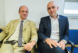 Old and new director of SZS: Jurij Zurej and Jozko Krizan  during meeting of Executive Committee of Ski Association of Slovenia (SZS) on September 22, 2015 in SZS, Ljubljana, Slovenia. Photo by Vid Ponikvar / Sportida