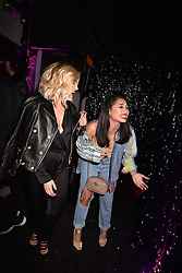 Left to right, Ashley Roberts and Vanessa White at the Maybelline New York Bring on The Night party hosted by Adriana Lima & Jourdan Dunn at Scotch of St.James, 13 Masons Yard, England. 18 February 2017.
