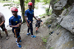 June 27, 2017 - Jupille, BELGIUM - Gent's Mamadou Sylla Diallo and Gent's Kalifa Coulibaly pictured during a team building for the new 2017-2018 season of Jupiler Pro League team KAA Gent, Tuesday 27 June 2017 in Jupille, Liege. BELGA PHOTO JASPER JACOBS (Credit Image: © Jasper Jacobs/Belga via ZUMA Press)