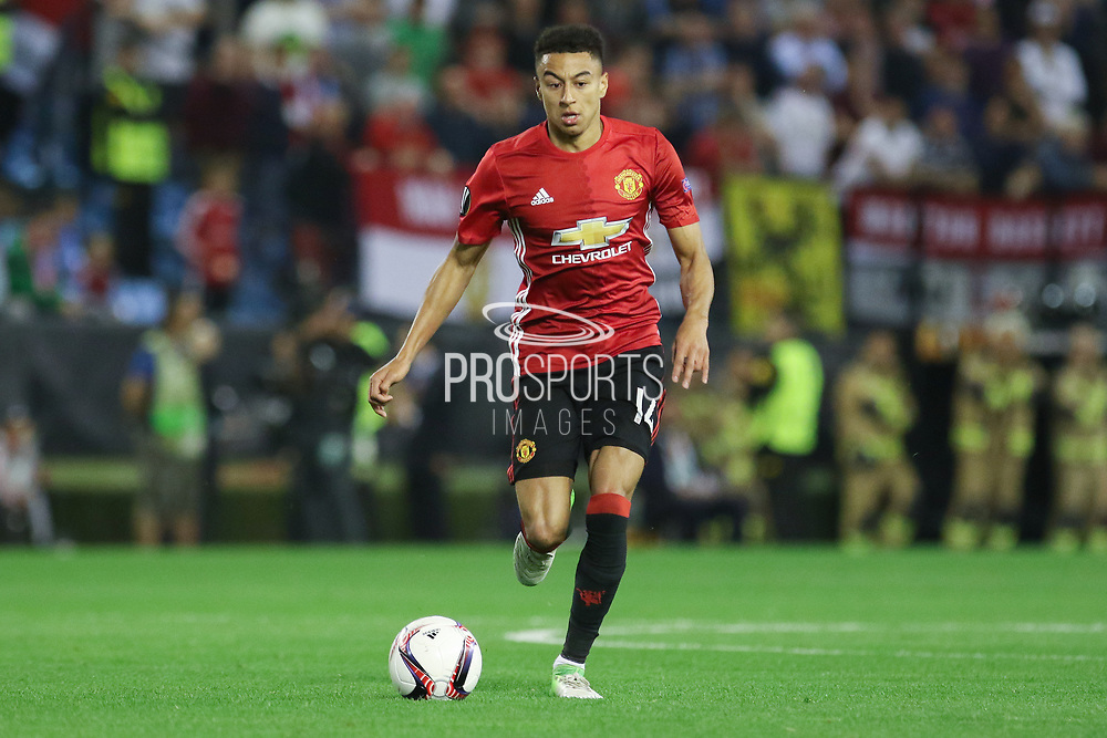 Jesse Lingard Midfielder of Manchester United during the Europa League semi final game 1 match between Celta Vigo and Manchester United at Balaidos, Vigo, Spain on 4 May 2017. Photo by Phil Duncan.