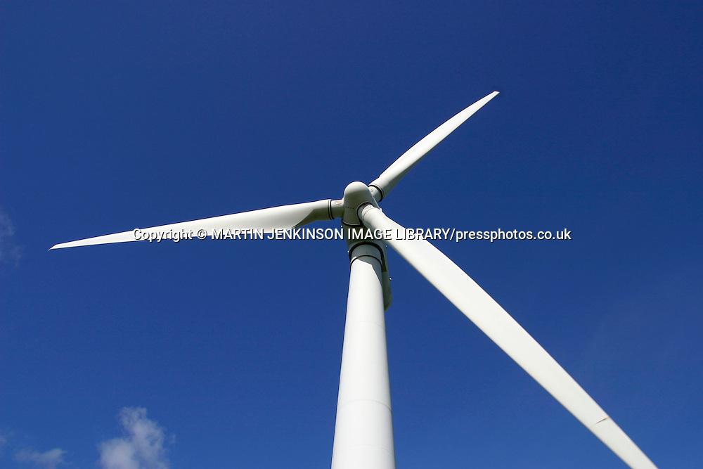 Wind turbine generating electricity....