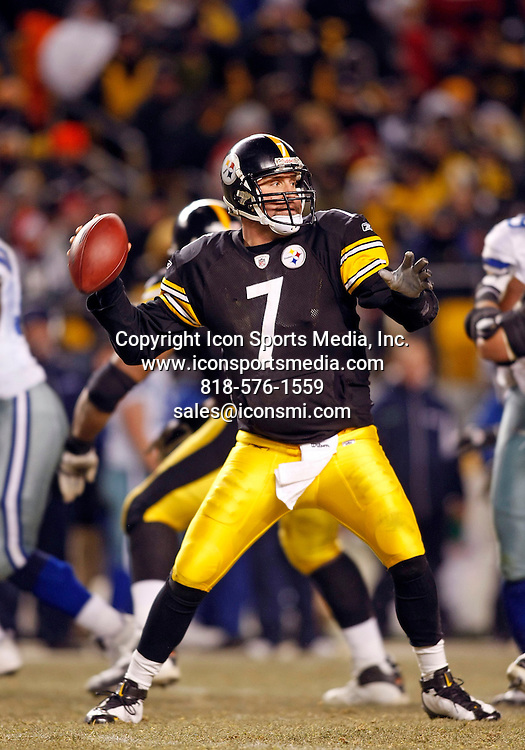 07 December 2008 - Ben Roethlisberger (7) of the Pittsburgh Steelers  during the Steelers 20-13 win over the Dallas Cowboys at Heinz Field in Pittsburgh, Pennsylvania.