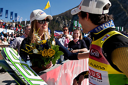 KOFLER Andreas (AUT) with his girlfriend after the Flying Hill Team competition at 3rd day of FIS Ski Jumping World Cup Finals Planica 2012, on March 17, 2012, Planica, Slovenia. (Photo by Vid Ponikvar / Sportida.com)