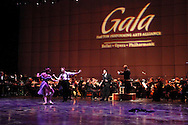 Dayton Ballet dancers Annalise Woller and Case Bodamer perform, accompanied by Dayton Opera's Scott Piper and the Dayton Philharmonic Orchestra, conducted by Neal Gittleman during the Dayton Performing Arts Alliance Inaugural Gala at the Schuster Center in downtown Dayton, Saturday, October 5, 2013.