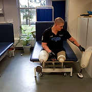 Pte Stephen Bainbridge of the Black Watch (3 SCOTS) who lost both legs in an IED explosion on the 11th of November 2011 in Loya Manda, Helmand Province, Afghanistan is now recovering well. H eadley Court RAF Hospital, England on the20th of March 2012.