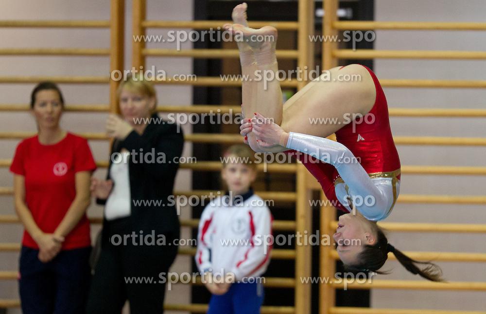 Ivana Kamnikar during Slovenian Artistic Gymnastics National Chapionship 2011, on November 20, 2011 in GIB Arena, Ljubljana, Slovenia. (Photo By Vid Ponikvar / Sportida.com)