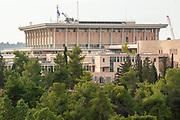 Israel, Jerusalem, The Knesset, Israeli parliament. A view from Saare Hesed Neighbourhood