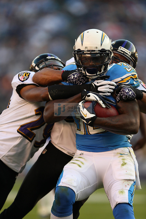San Diego Chargers running back Ronnie Brown (30) in action during an NFL game on Sunday, November 25, 2012 in San Diego, CA.  (Photo by Jed Jacobsohn)