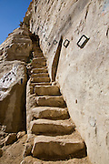 Stairs carved in the rock at Ein Avdat, sweet water spring in the negev desert, israel